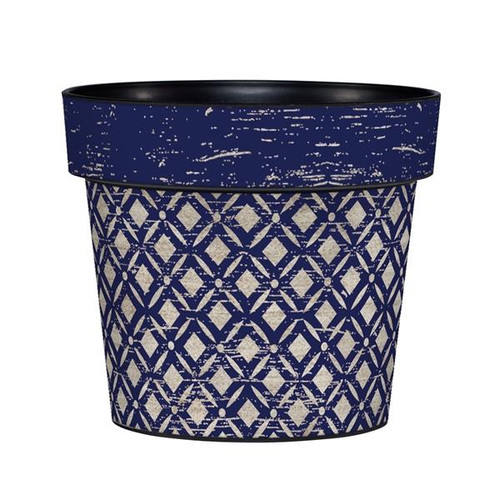 "ART POT 6"" NAVY LATTUCE"