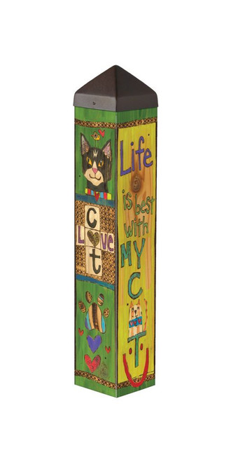 """ART POLE 20"""" LESSONS FROM MY CAT"""