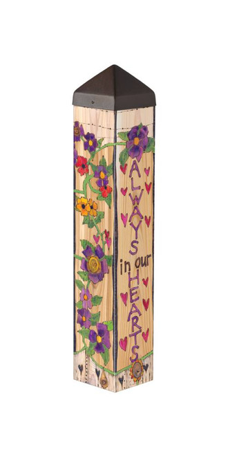 """ART POLE 20"""" OUR HEARTS REMEMBER"""