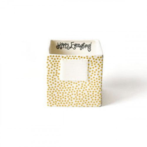 HAPPY EVERYTHING GOLD SMALL DOT MINI NESTING CUBE SMALL