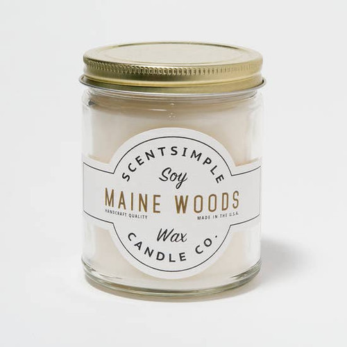 SOY WAX CANDLE MAINE WOODS