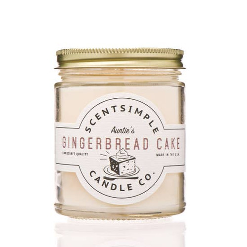 SOY WAX CANDLE GINGERBREAD CAKE