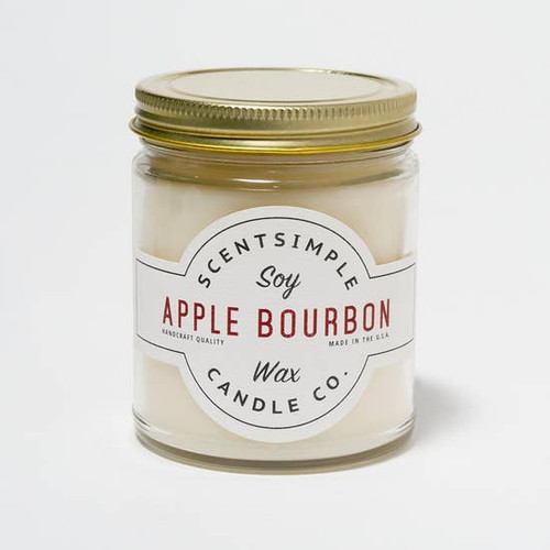 SOY WAX CANDLE APPLE BOURBON