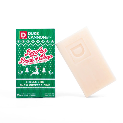 DUKE CANNON BIG ASS BRICK OF SOAP UGLY SWEATER EDITION - SNOW COVERED PINE