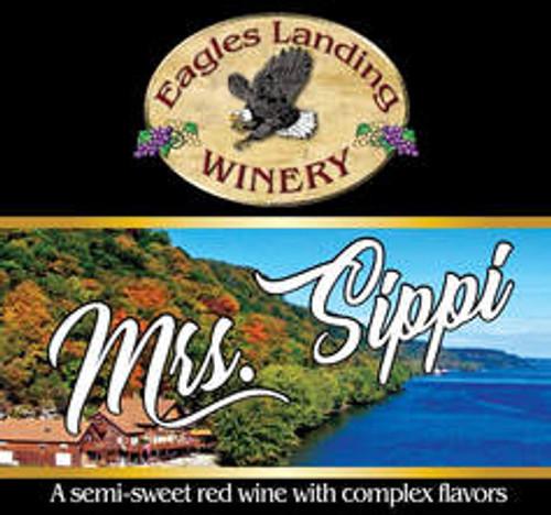 EAGLE'S LANDING WINE - MRS. SIPPI SEMI SWEET RED WINE