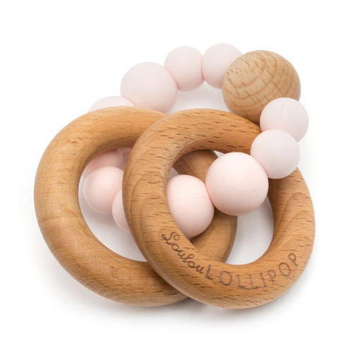 BUBBLE SILICONE & WOOD TEETHER