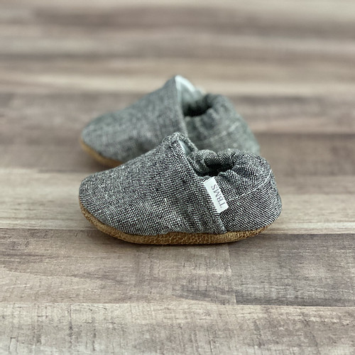 DARK GREY MOCCASINS