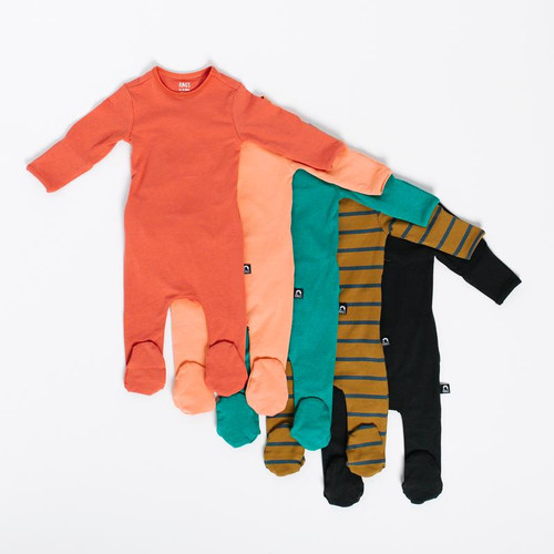 RAGS ESSENTIALS FOOTED ROMPER 0-3M