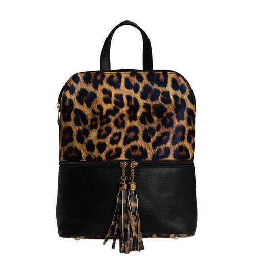 SCARLET BACKPACK BLACK/LEOPARD