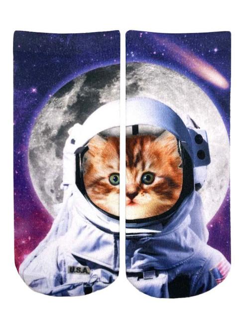 ASTRONAUT CAT ANKLE SOCKS