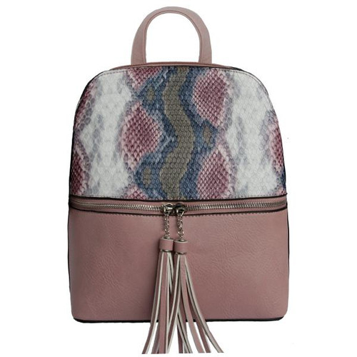 SCARLET BACKPACK BLUSH SNAKE