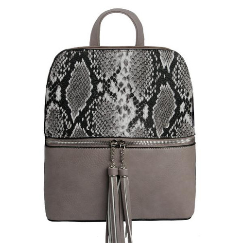 SCARLET BACKPACK CHARCOAL SNAKE