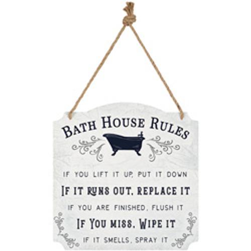 """BATH HOUSE"" METAL WALL DECOR"