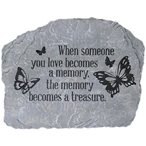 """""""BECOMES A MEMORY"""" GARDEN STONE"""