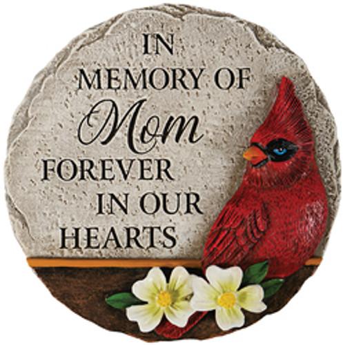 """""""MOM"""" CARDINAL MEMORIAL MINI GARDEN STONE"""