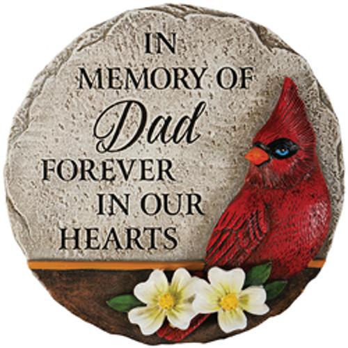 """""""DAD"""" CARDINAL MEMORIAL MINI GARDEN STONE"""