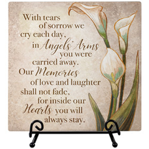 """""""ANGELS' ARMS"""" EASEL PLAQUE"""