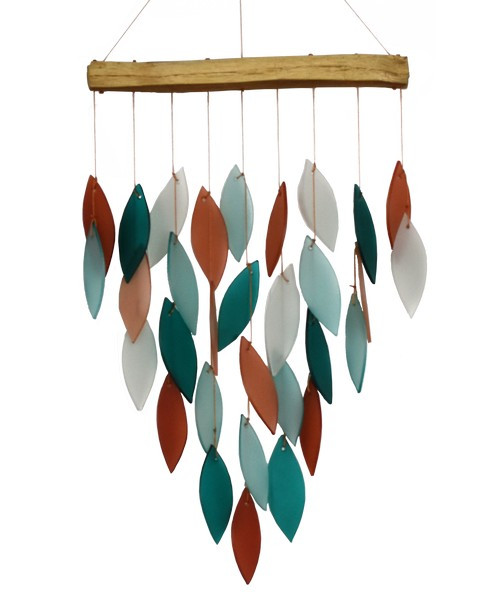 CORAL & TEAL WATERFALL CHIME