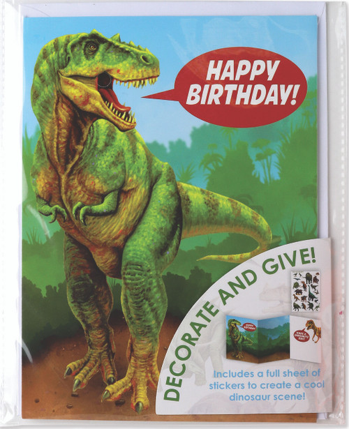 CARD DINOSAUR DECORATE YOUR OWN