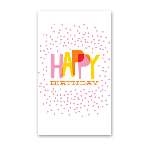 ENCLOSURE CARD CONFETTI BIRTHDAY