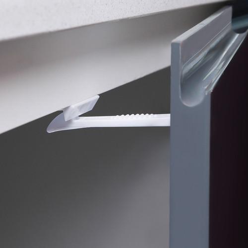 DREAMBABY WHITE PLASTIC ADHESIVE CABINET/DRAWER LATCHES 4 PK