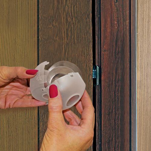 DREAMBABY EZY-FIT CLEAR PLASTIC DOOR KNOB COVERS 3 PK
