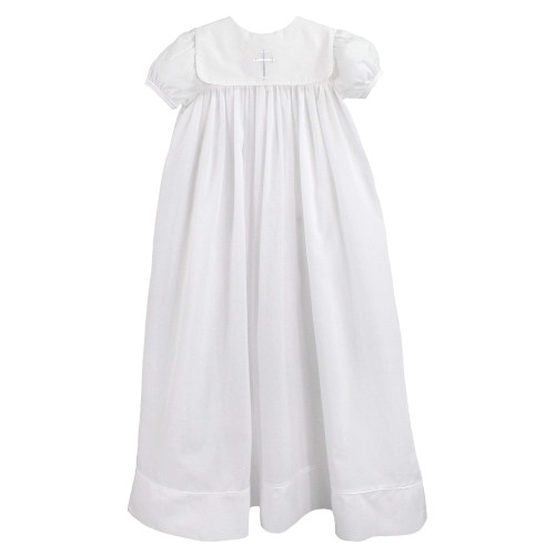 Embroidered Cross Christening Gown 3M