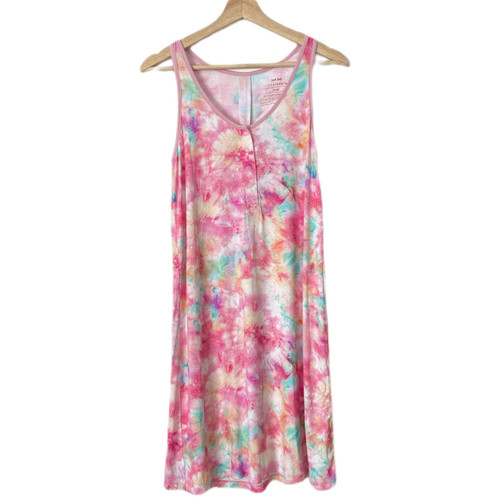 COTTON CANDY TIE DYE WOMENS GOWN