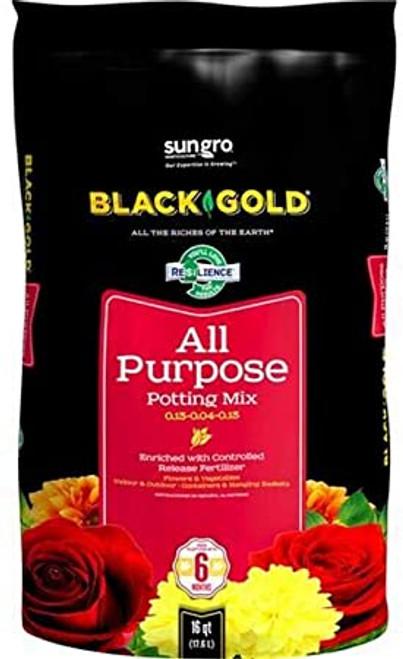 BLACK GOLD ALL PURPOSE POTTING SOIL 16QT