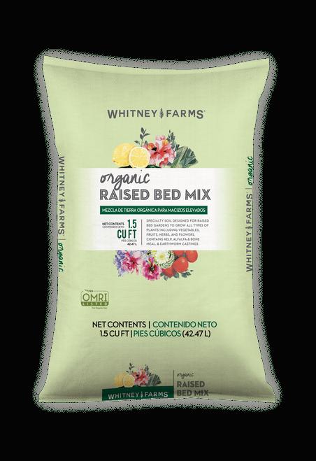 WHITNEY FARMS ORGANIC RAISED BED MIX SOIL 1.5CF