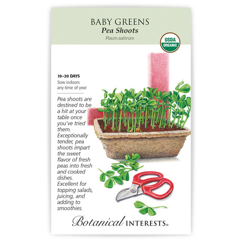 SEED BABY GREENS PEA SHOOTS ORG
