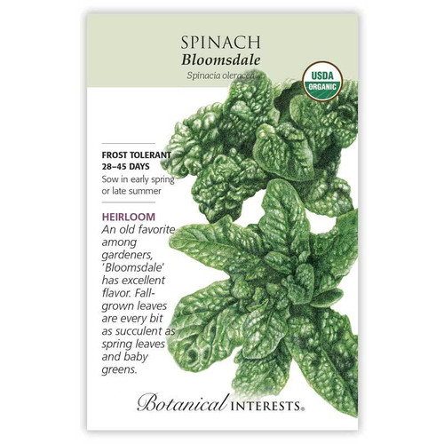 SEED SPINACH BLOOMSDALE ORG