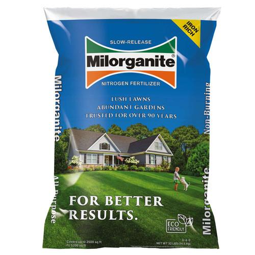 Milorganite Slow Release Nitrogen 06-04-00 Lawn Fertilizer 2500 sq. ft. For All Grasses