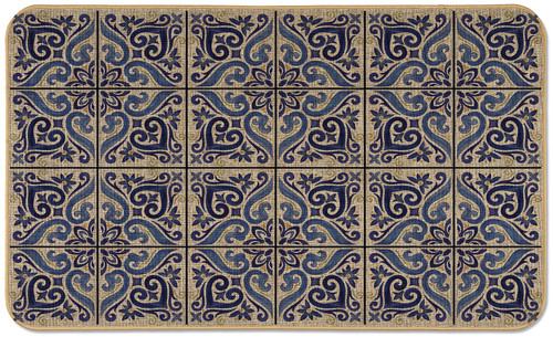 MAT 29.5 X 17.75 SHADES OF BLUE