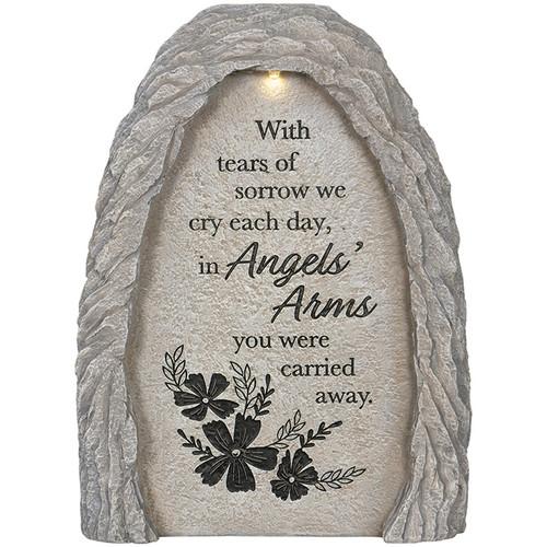 ANGELS ARMS SOLAR GARDEN MARKER