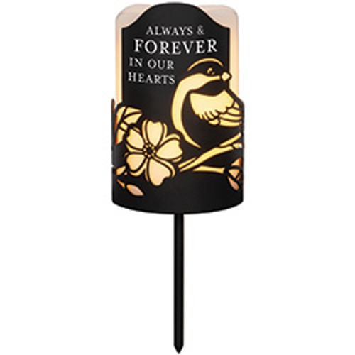 FOREVER HEARTS CANDLE STAKE