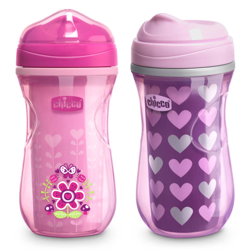 INSULATED RIM TRAINER CUP 9OZ 2PK PINK/PURPLE