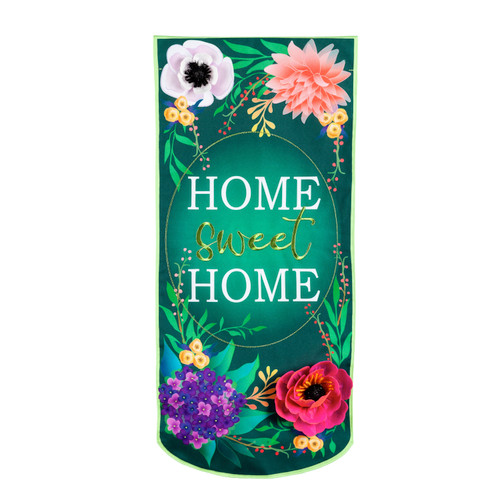 FLORAL HOME SWEET HOME EVERLASTING IMPRESSIONS TEXTILE DECOR