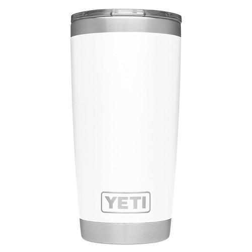 YETI Rambler 20 oz White BPA Free Tumbler with MagSlider Lid