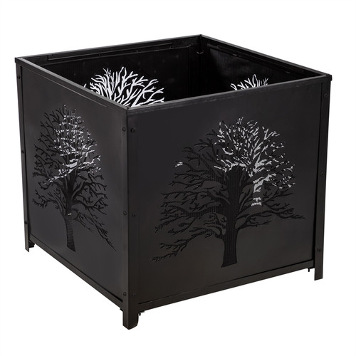 SQUARE TREE OF LIFE FIREPIT