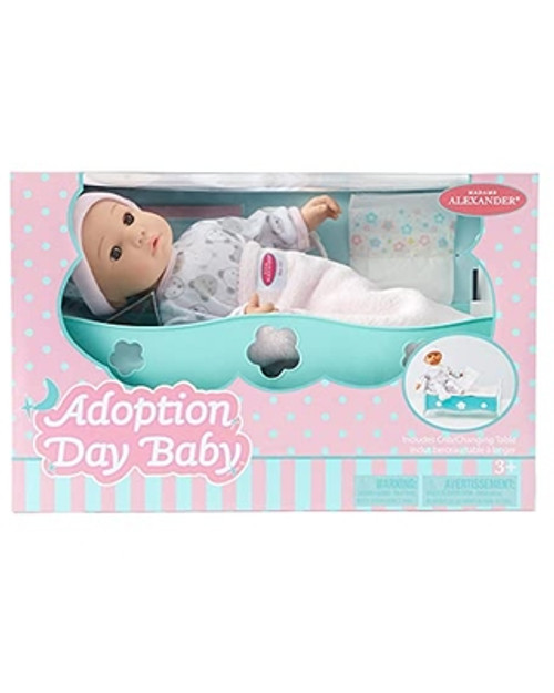"""14"""" ADOPTION DAY BABY GIRL, BROWN EYES"""