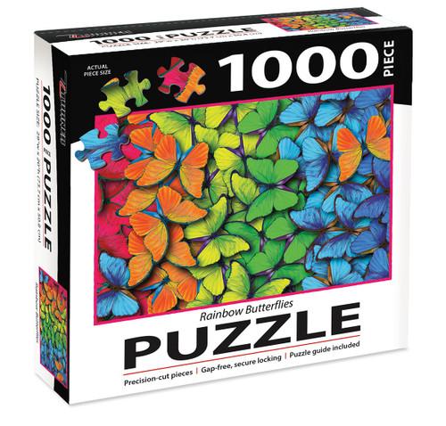 1000 PC PUZZLE RAINBOW BUTTERFLIES