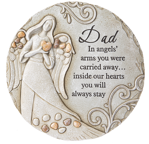 STEPPING STONE DAD IN ANGELS' ARMS