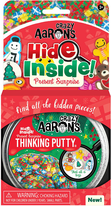 """HOLIDAY PUTTY TIN HIDE INSIDE 4"""""""