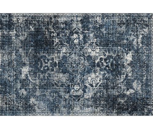 PERSIAN FLOOR MAT: DARK BLUE  4.5'x6.5'