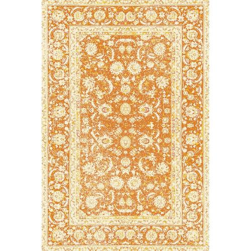 PERSIAN FLOOR MAT: ORANGE/YELLOW  4.5'x6.5'