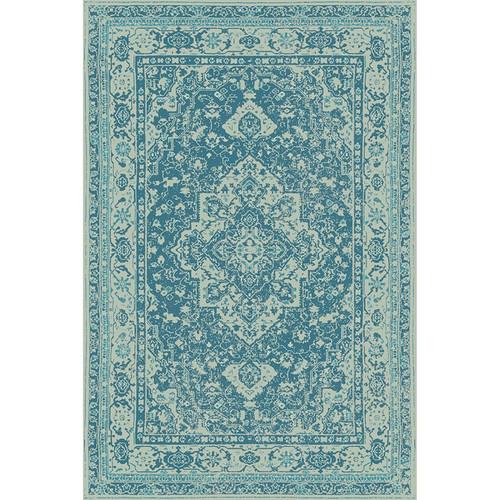PERSIAN FLOOR MAT: BLUE  4.5'x6.5'