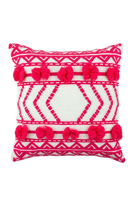 """OUTDOOR PILLOW THELMA PINK 17"""""""
