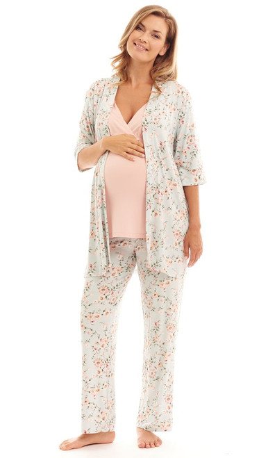 EVERLY GREY PJ SET CLOUD BLUE