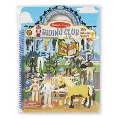 PUFFY STICKER ACT BOOK RIDING CLUB